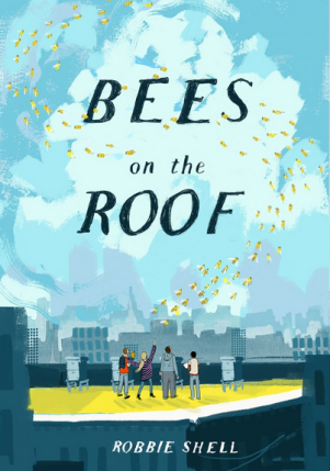 bees on the roof - front cover with name